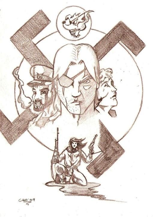 Boceto portada años 70